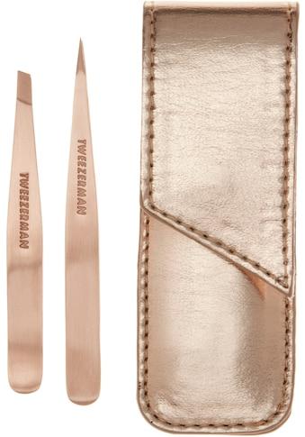 TWEEZERMAN Augenbrauenpinzette »ROSE GOLD PETITE TWEEZE SET«, inkl. rosé goldenem Case kaufen