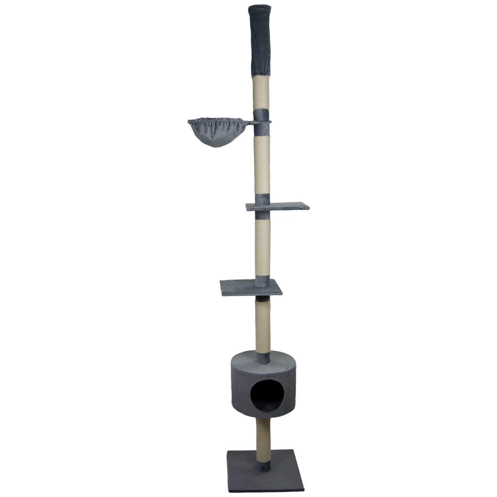 SILVIO design Kratzbaum »Katzenbaum Abakus grau«, hoch, BxHxT: 50x50x230 cm