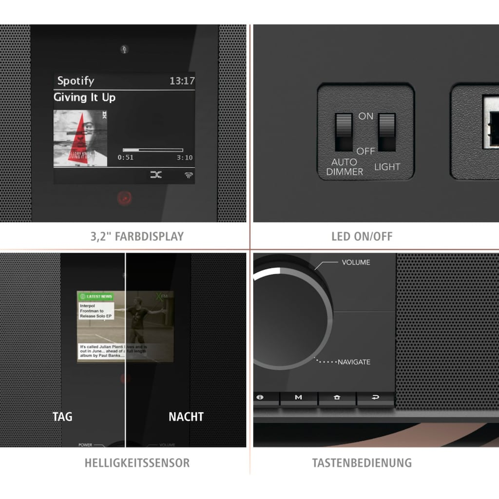 Hama Internetradio Digitalradio DIR3605MSBT mit 2.1 Soundsystem