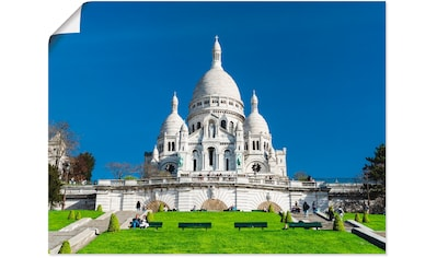 Artland Wandbild »Paris Sacre Coeur«, Gebäude, (1 St.), in vielen Größen &... kaufen
