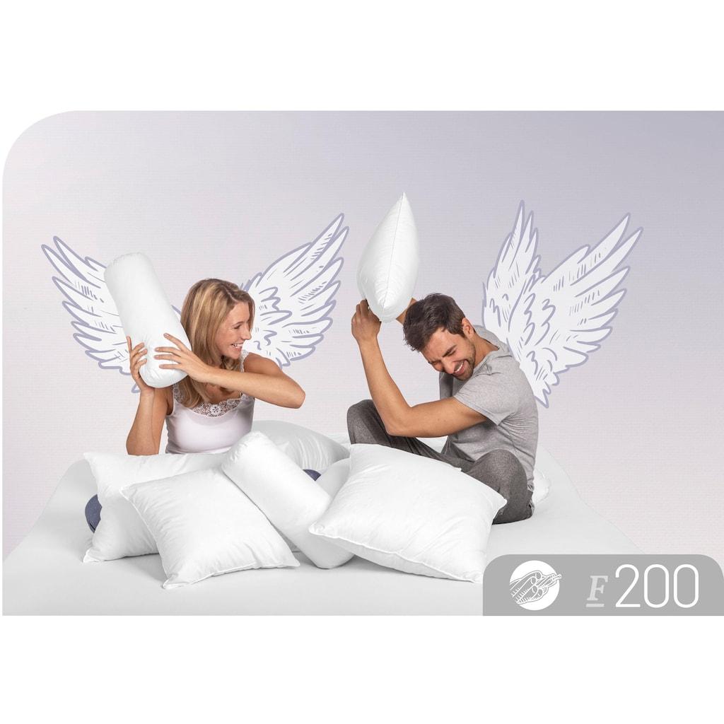 Schlafstil Baumwollkissen »F200«, Füllung: 100% Polyester, Bezug: 100% Baumwolle, (1 St.), hergestellt in Deutschland, allergikerfreundlich