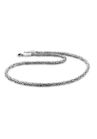 Kuzzoi Silberkette »Herren Glieder Königskette Oxidiert 925 Silber« kaufen