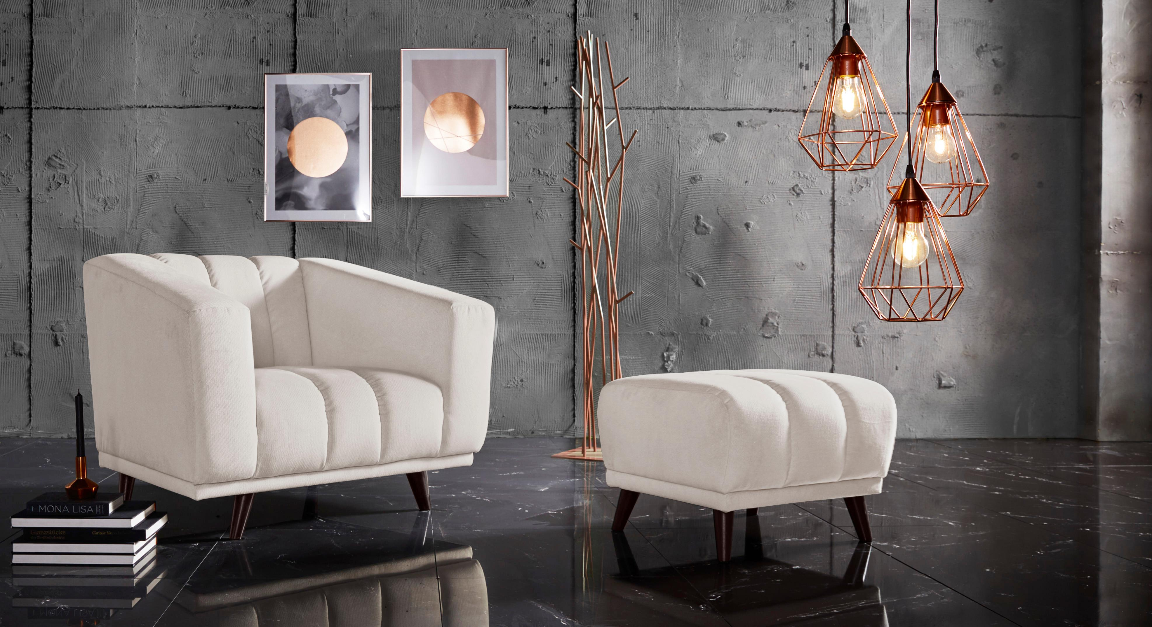 INOSIGN Sessel »Rimini« mit ungewöhnlicher Steppung in modernem Design