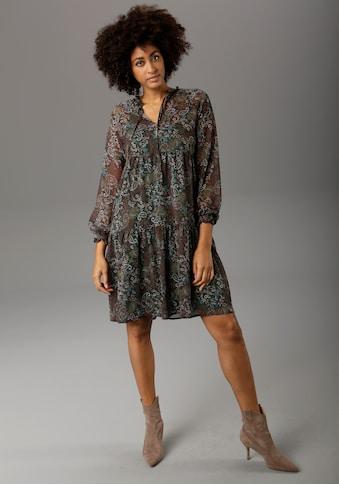 Aniston CASUAL Chiffonkleid, mit Paisley- oder Blütendruck - chic sind beide - NEUE KOLLEKTION kaufen