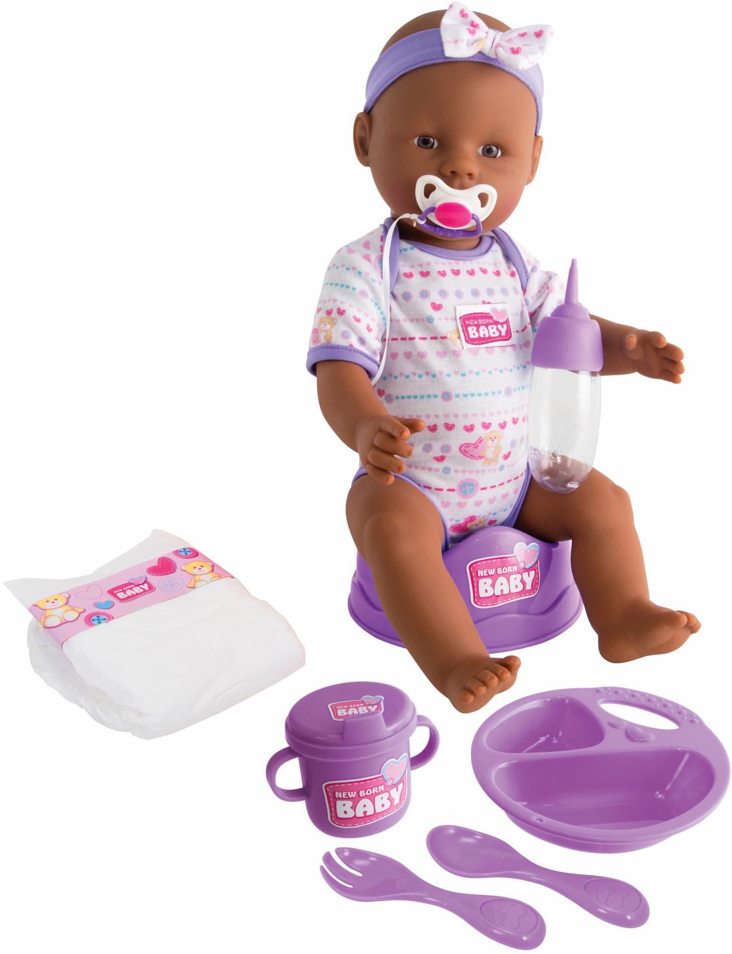 """SIMBA Babypuppe """"New Born Baby Ethnische Puppe"""" (1-tlg) Kindermode/Spielzeug/Puppen/Weitere Puppen"""
