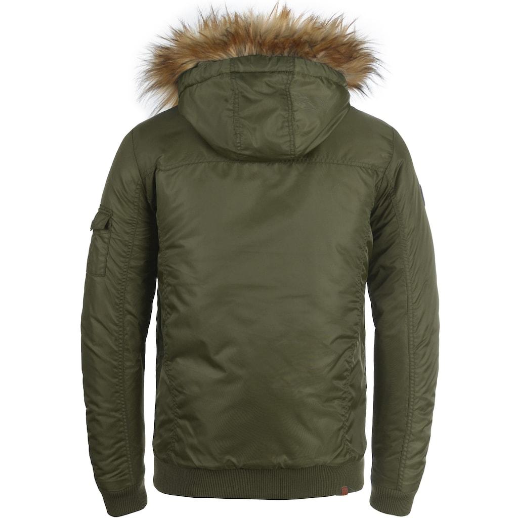 Blend Winterjacke »Egon«, warme Jacke mit abnehmbarem Kunstfellkragen