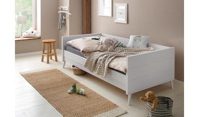Lüttenhütt Bett »Ellen«, aus massivem Kiefernholz, in 2 verschiedenen Farben, mit... kaufen