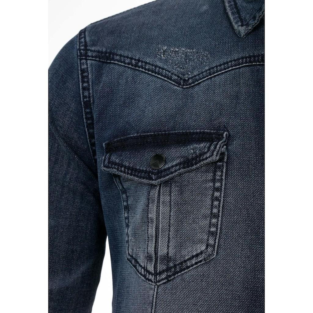 Cipo & Baxx Jeanshemd, mit Brusttaschen