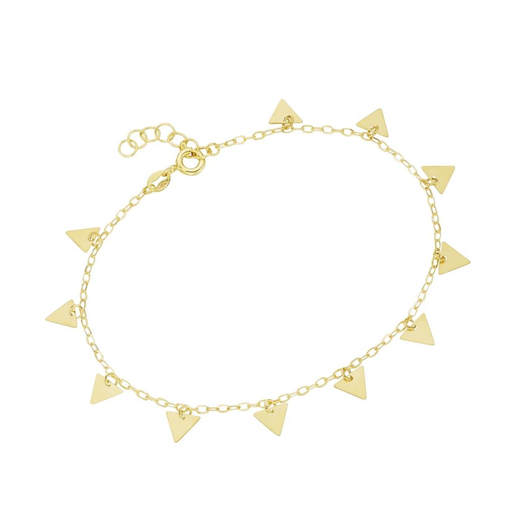 Luigi Merano Armband »mit Dreieck - Anhängern, Gold 375«