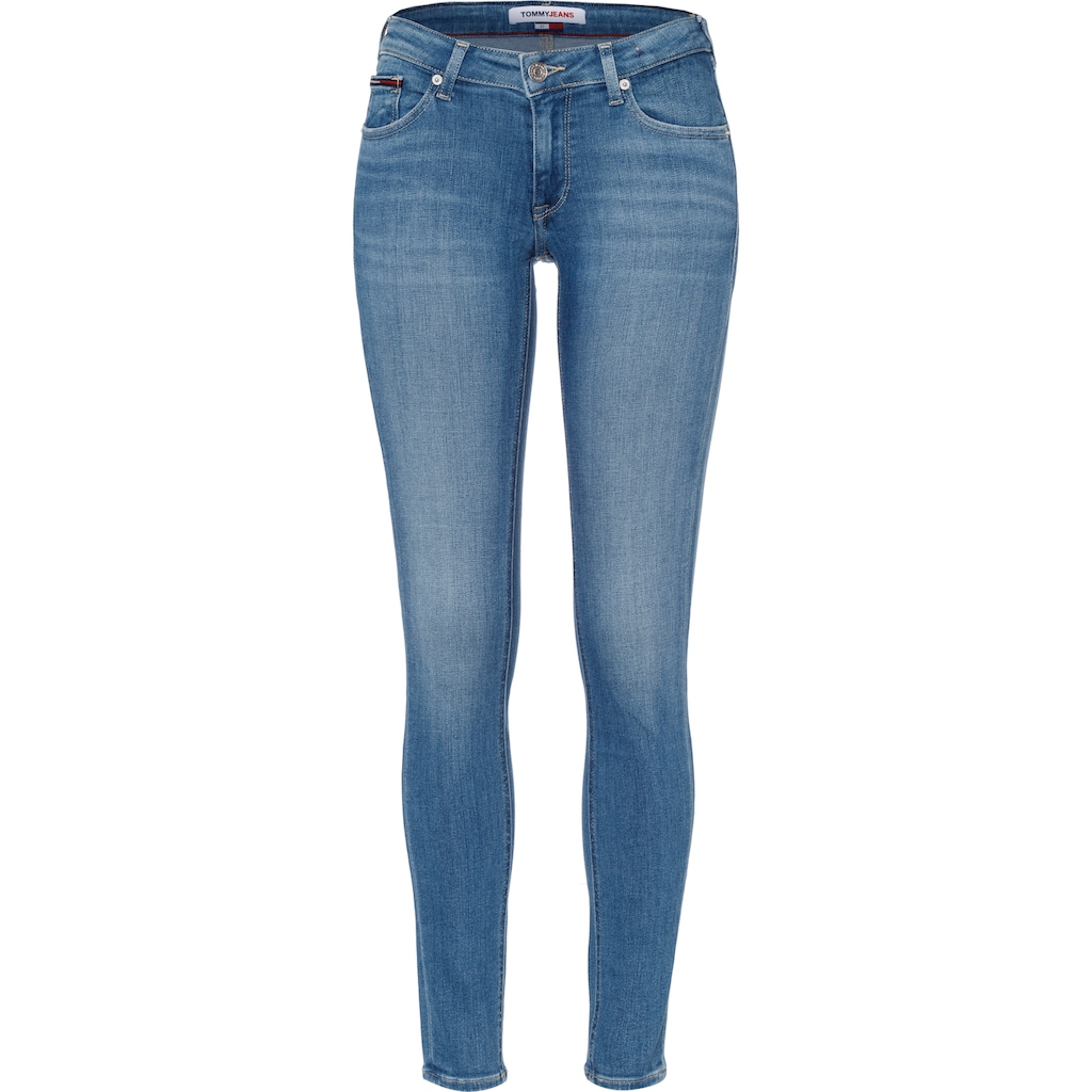 Tommy Jeans Skinny-fit-Jeans »SOPHIE LR SKNY AE114 ELBS«, mit leichten Faded-out & TommyJeans Logo-Badge