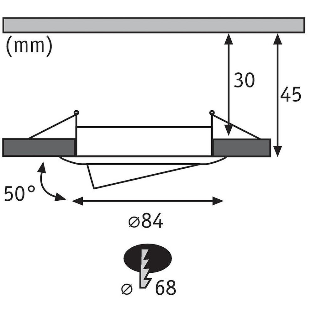 Paulmann LED Einbaustrahler »SmartHome Coin 1,3W Eisen 3er-Set RGBW schwenkbar Steuerung per App via Bluetooth«, 3 St.