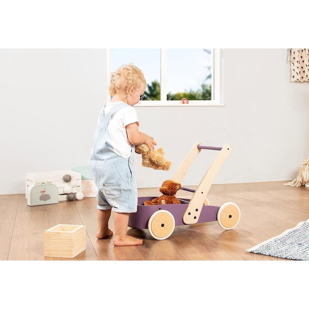 Pinolino® Lauflernwagen »Fiete, brombeer«, aus Holz
