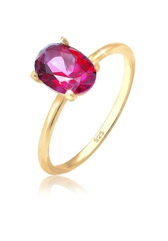 Elli Fingerring »Bandring Topas Edelstein Swarovski® 925er Silber« kaufen