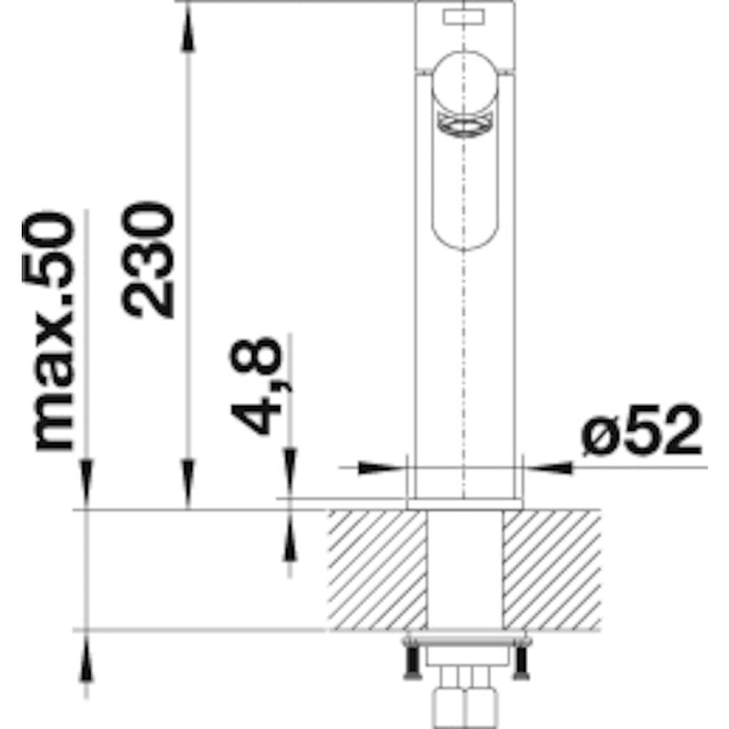 Blanco Küchenarmatur »AMBIS«, Hochdruck, hochwertige Ausführung in massivem Edelstahl