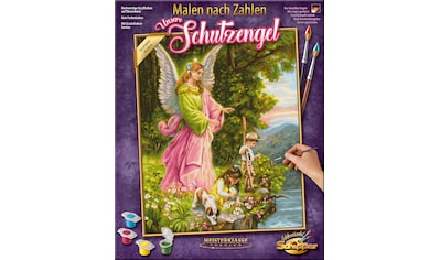 Schipper Malen nach Zahlen »Meisterklasse Premium - Unsere Schutzengel«, Made in Germany kaufen