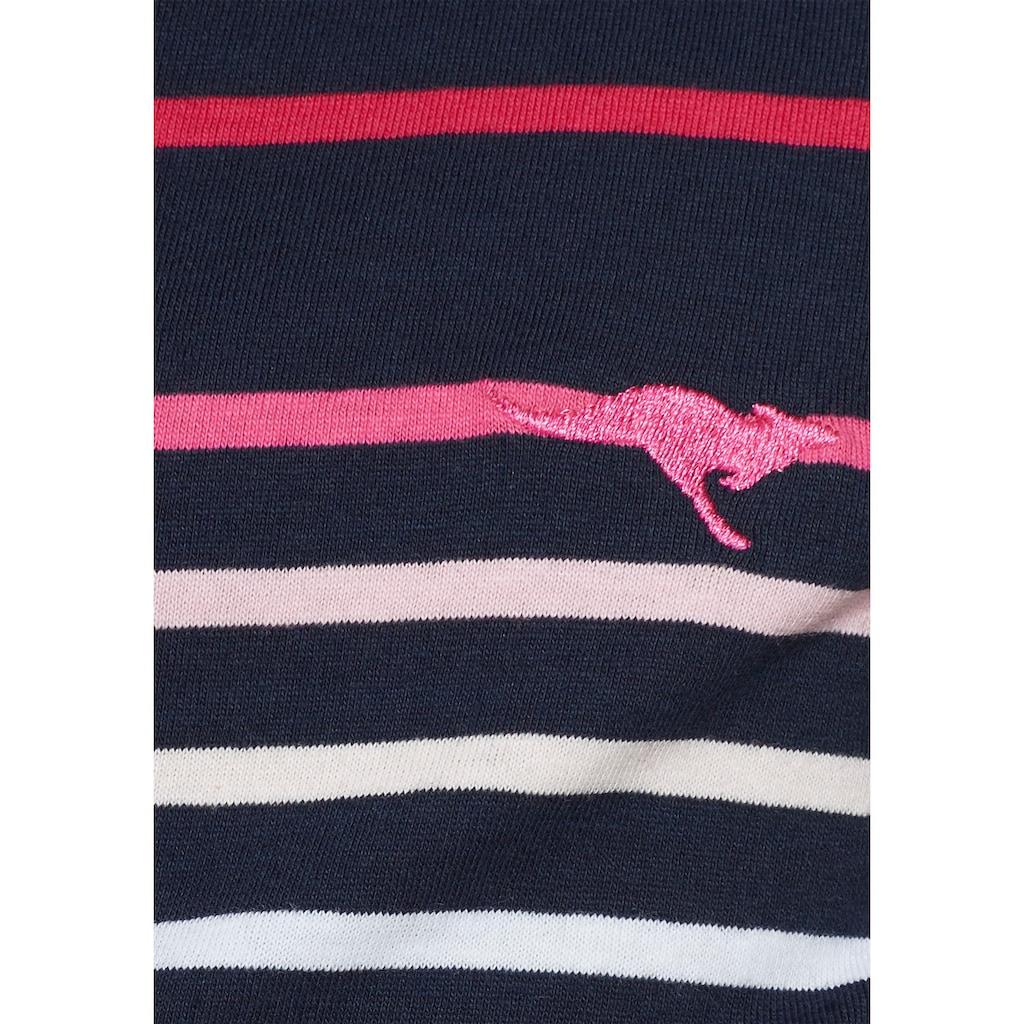 KangaROOS Jerseykleid, mit kurzen Ärmeln