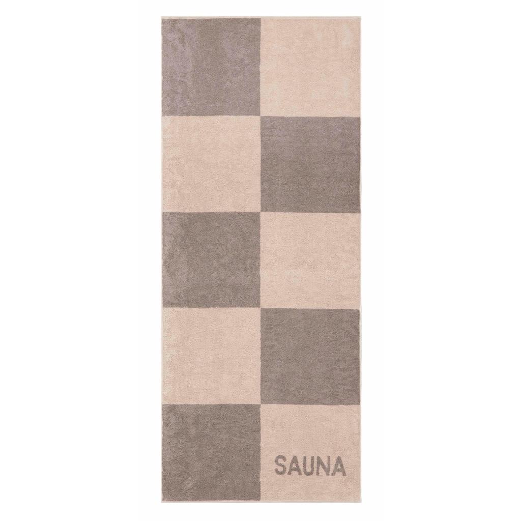 Cawö Saunatuch »Sauna Karo«, (1 St.), mit großen Karos