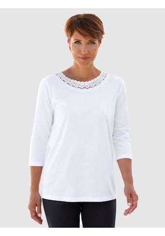 Paola Shirt mit Spitzenapplikation kaufen
