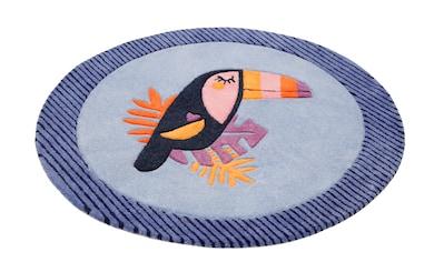 Esprit Kinderteppich »E-Toucan«, rund, 9 mm Höhe, besonders weich, Motiv Toucan kaufen