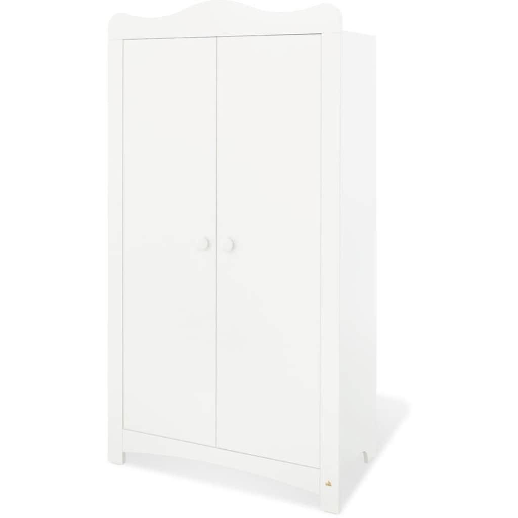 Pinolino® Babyzimmer-Komplettset »Florentina«, (Set, 4 St.), breit mit Reglaufsatz; mit Kinderbett, Schrank und Wickelkommode; Made in Europe
