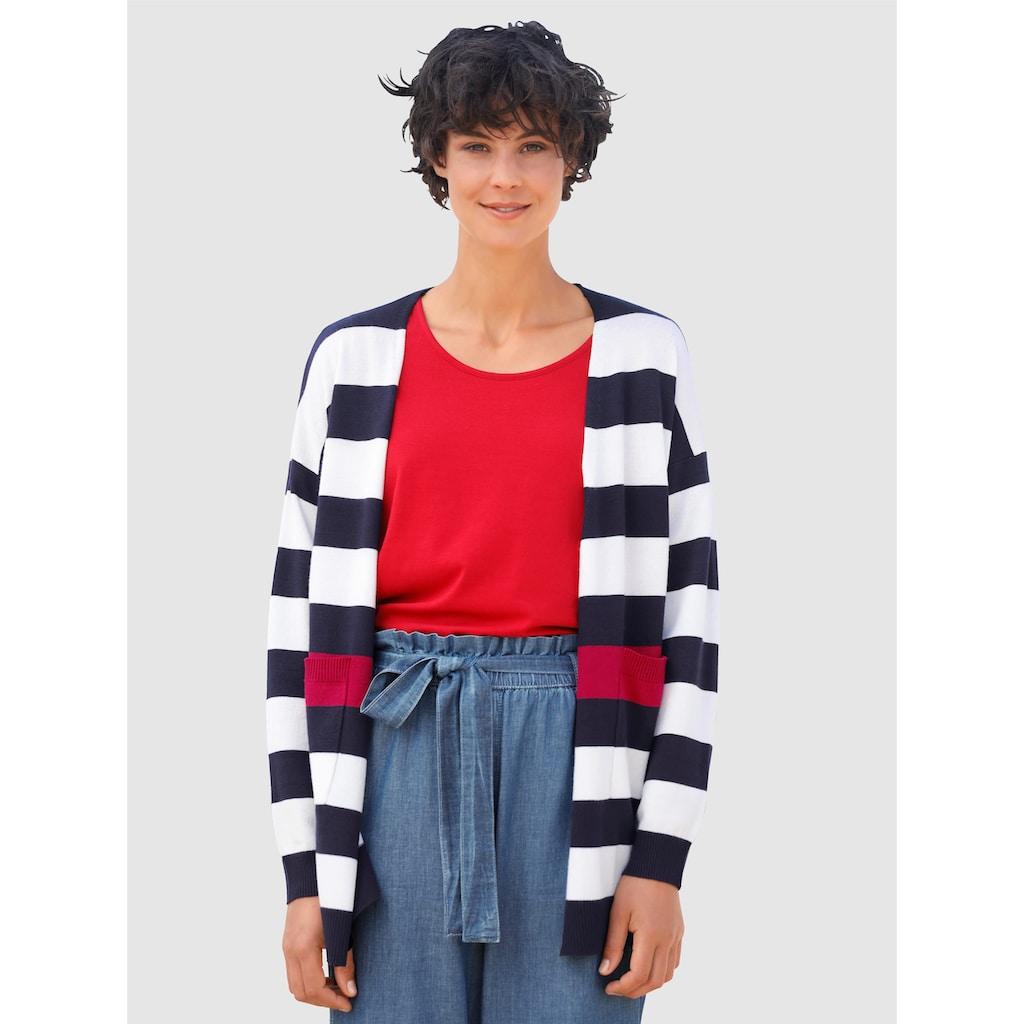 Dress In Strickjacke, mit Kontrastfarben