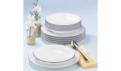 """Seltmann Weiden Tafelservice """"Compact Blaurand"""" (12 - tlg.), Porzellan kaufen"""