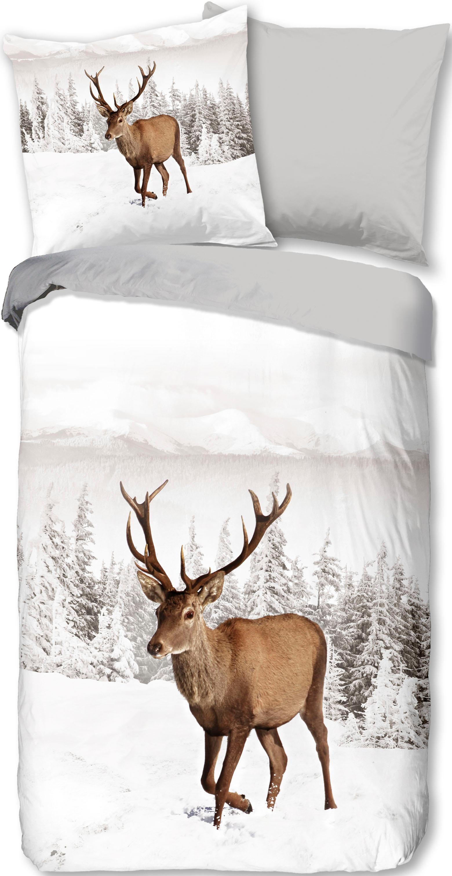 Wendebettwäsche Deer good morning