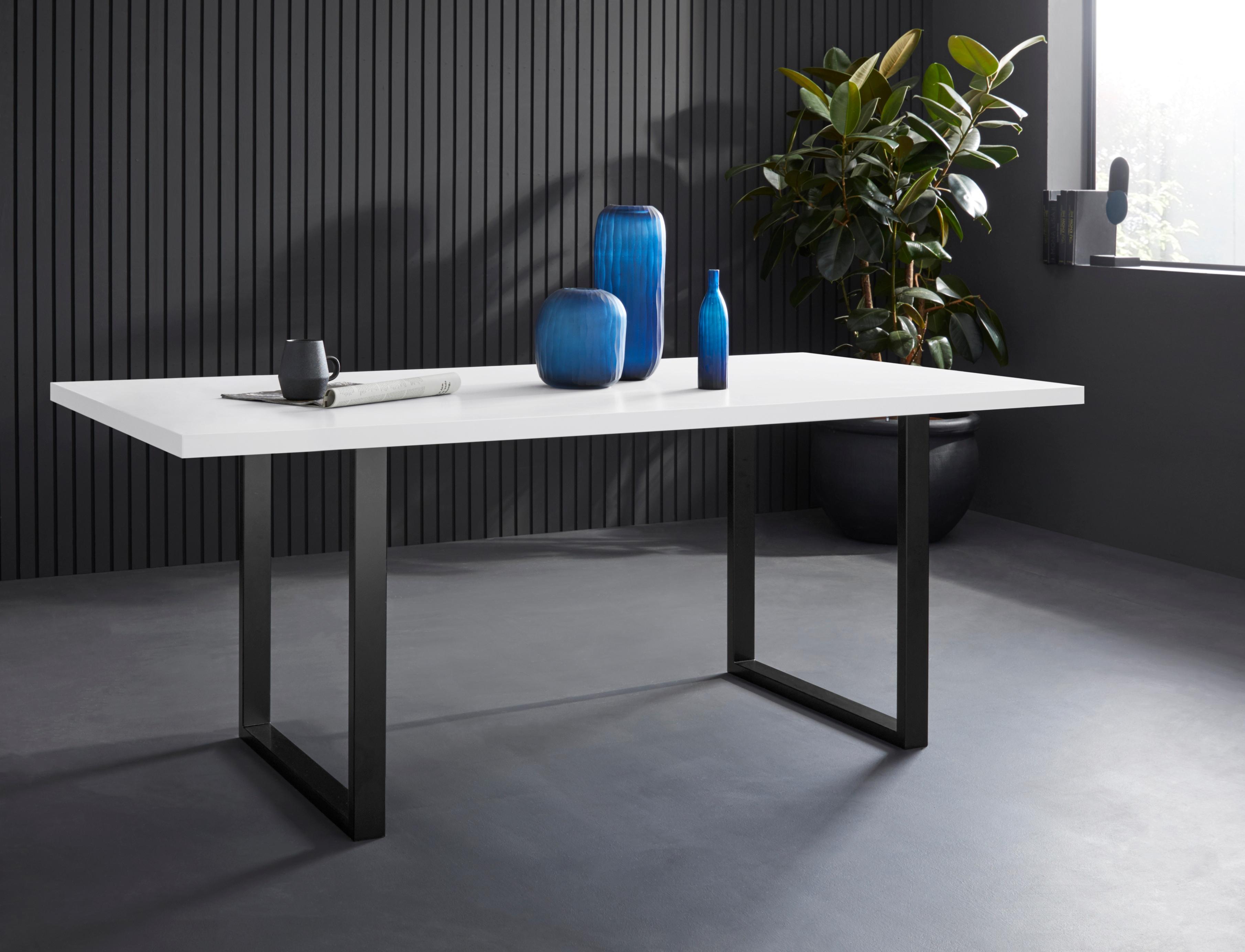 FORTE Esstisch, Breite 160 cm weiß Esstisch Esstische rechteckig Tische