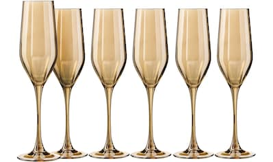 my home Sektglas »Naila«, (Set, 6 tlg.), mit hochwertiger, goldfarbener Optik, 160 ml,... kaufen