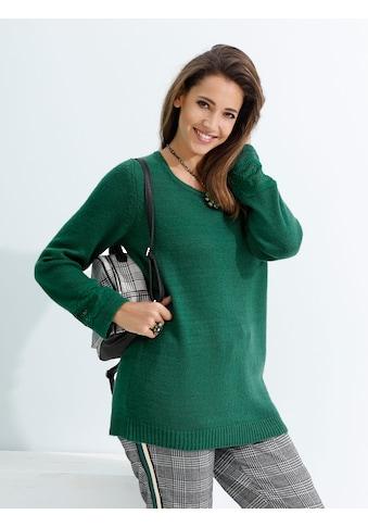 MIAMODA Pullover mit Spitzeneinsatz an den Ärmeln kaufen