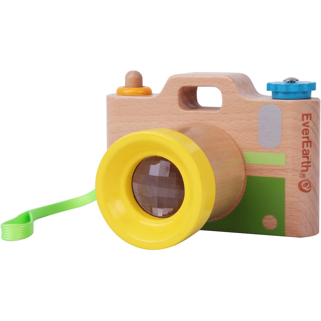 EverEarth® Spielzeug-Kamera, mit Fernrohr und Umhängetasche, FSC®-Holz aus gewissenhaft bewirtschafteten Wäldern