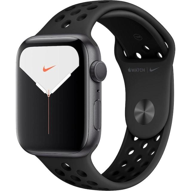 Apple Series 5 Nike GPS, Aluminiumgehäuse mit Nike Sportarmband 44mm Watch (Watch OS 6)