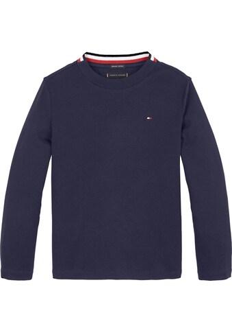 TOMMY HILFIGER Langarmshirt »SOLID RIB TEE L/S« kaufen