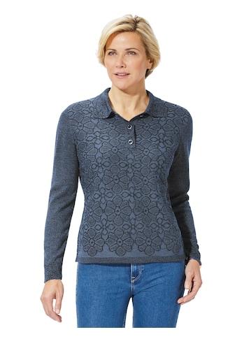 Classic Basics Pullover mit Blüten im Jacquard - Stil kaufen