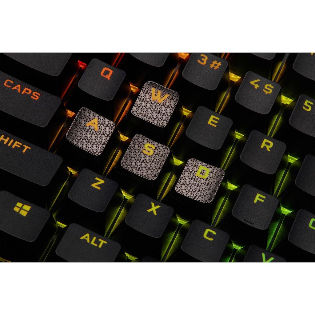 Corsair Gaming-Tastatur »K100 CORSAIR OPX«, (Handgelenkauflage-USB-Anschluss-Lautstärkeregler-Makro-Tasten-ausklappbare Füße-Ziffernblock)