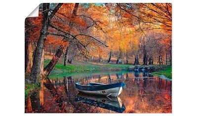 Artland Wandbild »Bunte Herbstlandschaft«, Boote & Schiffe, (1 St.), in vielen Größen... kaufen