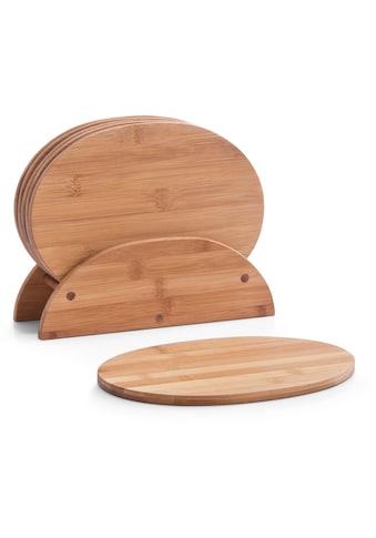 "Zeller Present Frühstücksbrett ""Bamboo"", Bambus, (Set, 7 - tlg.) kaufen"