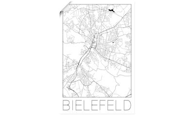 Artland Wandbild »Retro Karte Bielefeld Deutschland« kaufen