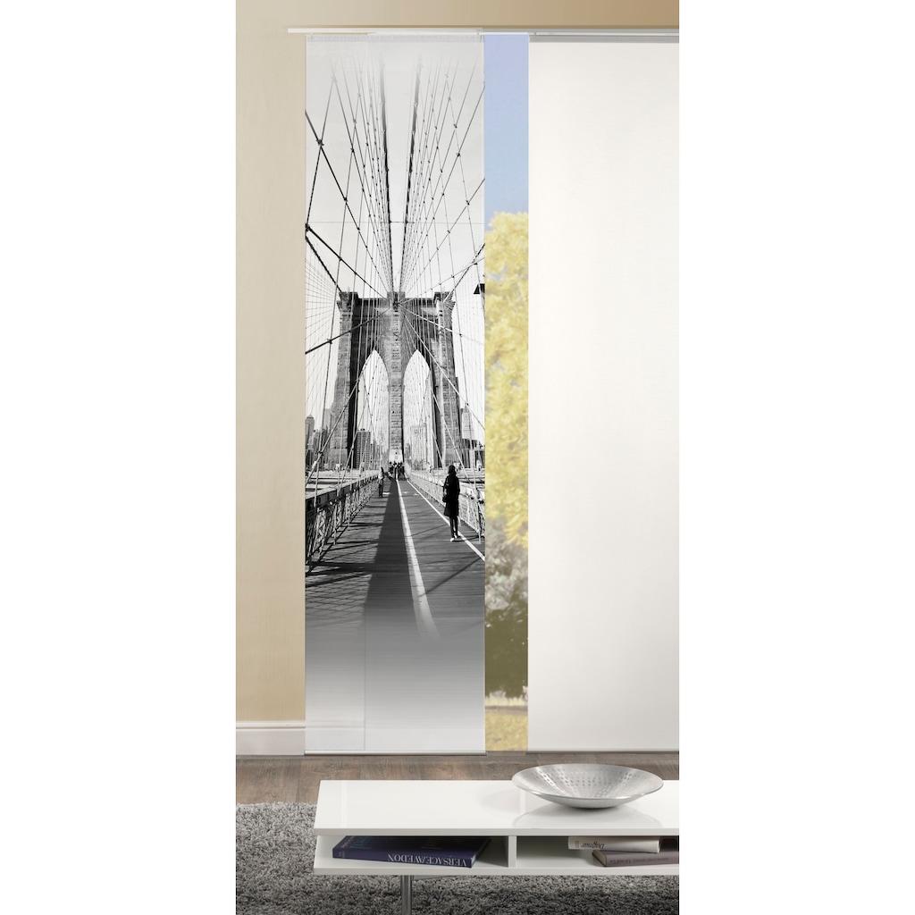 HOME WOHNIDEEN Schiebegardine »BRIGO«, HxB: 245x60, Dekostoff Digitaldruck