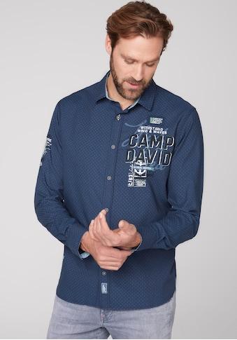 CAMP DAVID Langarmhemd, dezent gemustert kaufen