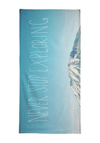 Juniqe Handtuch »Never Stop Exploring«, (1 St.), Weiche Frottee-Veloursqualität kaufen