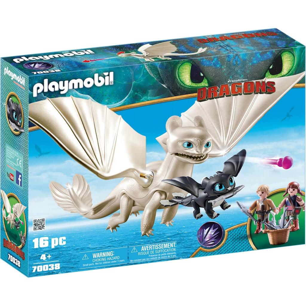 Playmobil® Konstruktions-Spielset »Light Fury Spielset (70038), Dragons«, Made in Germany