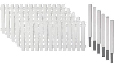 T&J Gartenzaun »Lexington 3«, Kunststoff, 80 cm hoch, 5 Elemente für 9,54 Meter Zaun,... kaufen