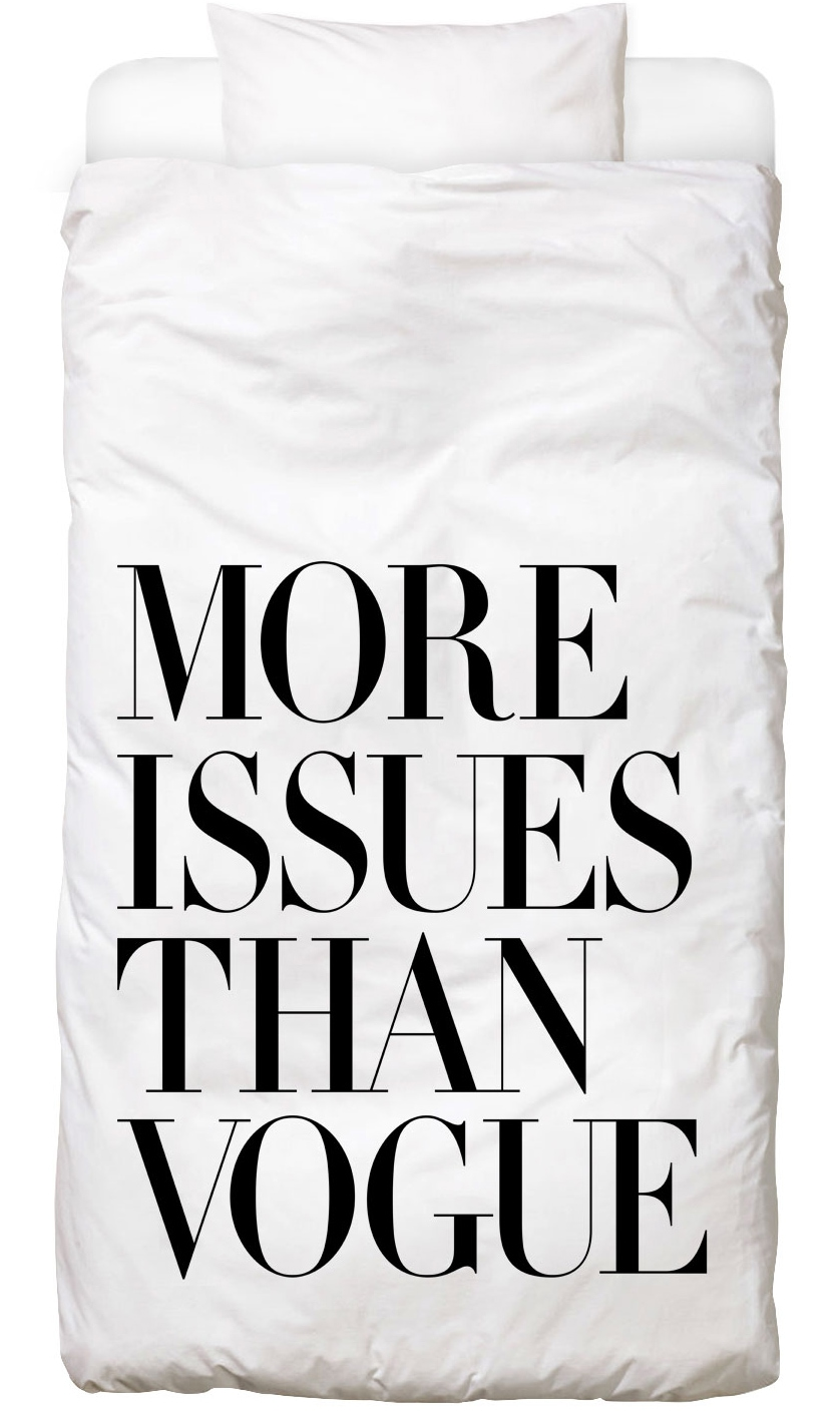 Bettwäsche More Issues Than Vogue White Juniqe