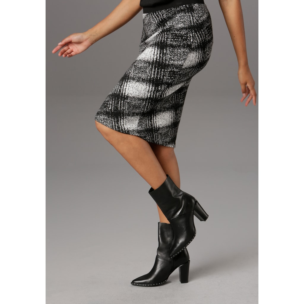 Aniston SELECTED Jerseyrock, in eleganter Musterung
