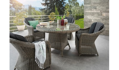 DESTINY Sitzgruppe »Luna/Malaga«, 13 - tlg., 4 Sessel, Tisch 150 cm, Alu/Polyrattan kaufen