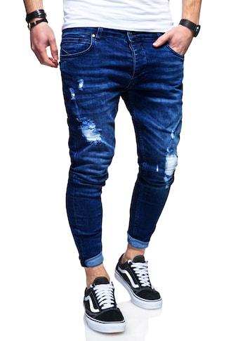 behype Slim-fit-Jeans »EIKE«, mit trendigen Used-Elementen kaufen