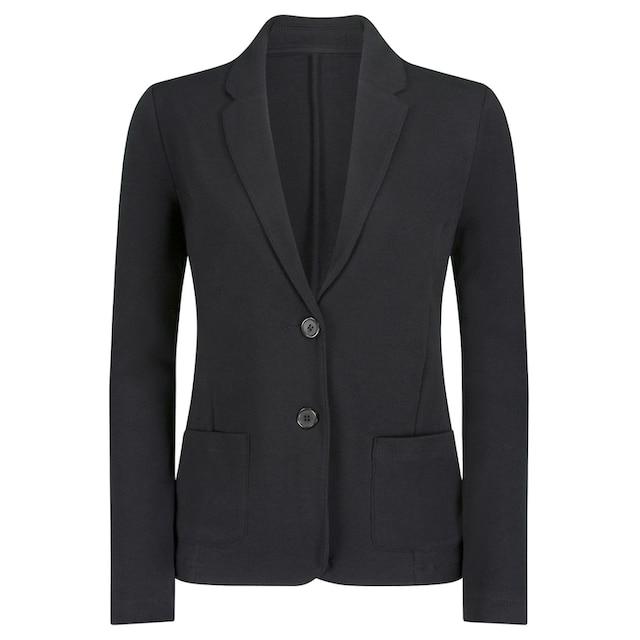 Jersey-Blazer mit Reverskragen