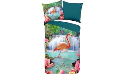 PURE luxury collection Wendebettwäsche »Flamingo«, mit Flamingo kaufen