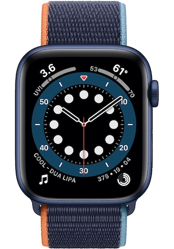 Apple Series 6 GPS, Aluminiumgehäuse mit Sport Loop 44mm Watch kaufen
